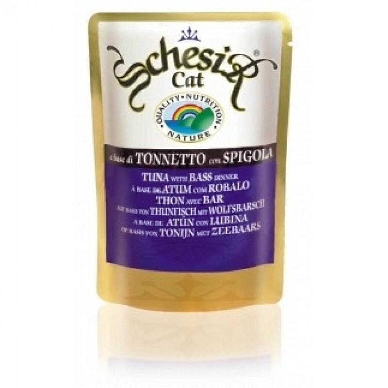 Влажный корм для кошек Schesir Tuna with Bass 0,1 кг