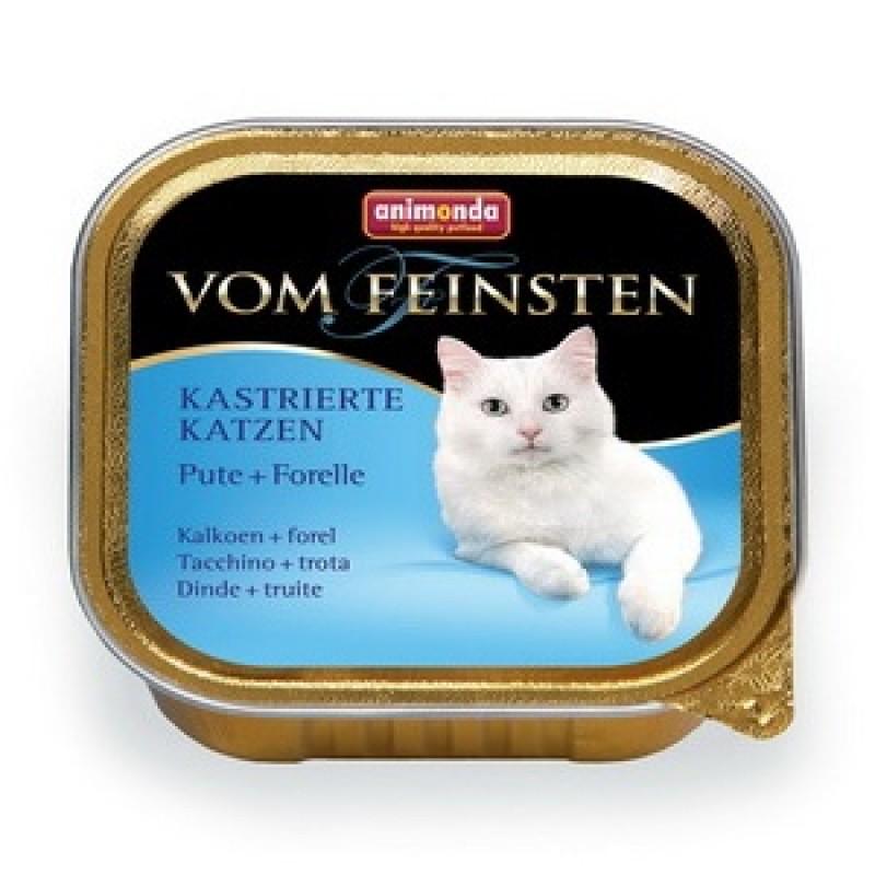 Влажный корм для кошек Animonda Vom Feinsten for castrated cats с индейкой и форелью 0,1 кг