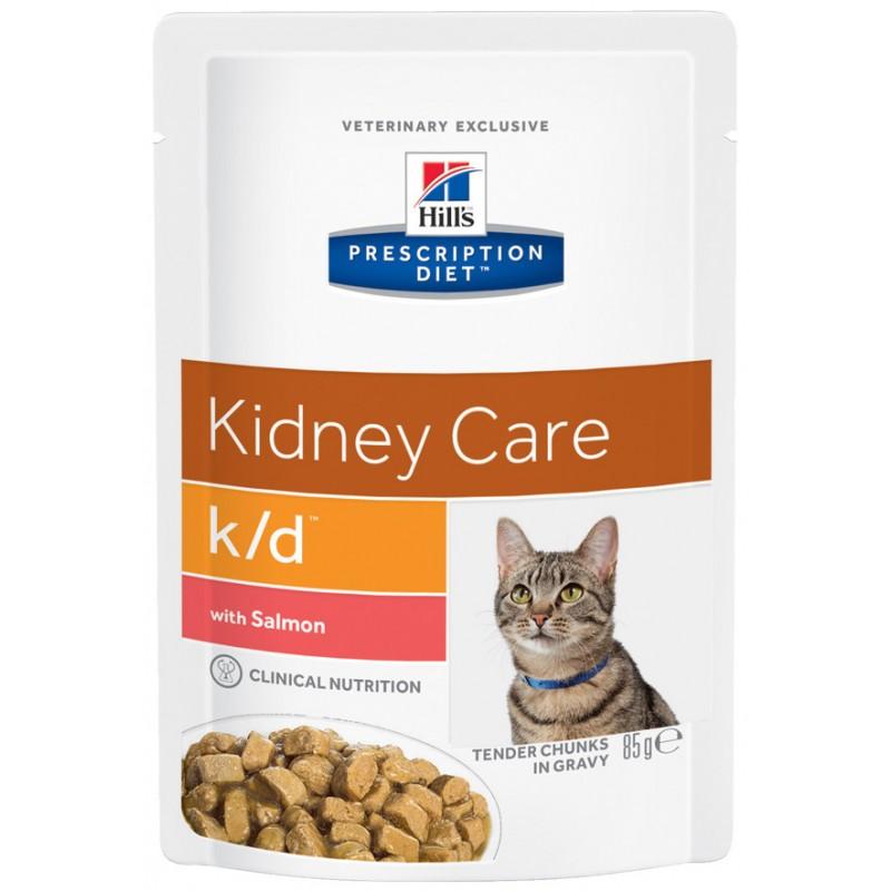 Влажный корм Hills Prescription Diet k/d Feline with Salmon Pouch диета для кошек 0,085 кг