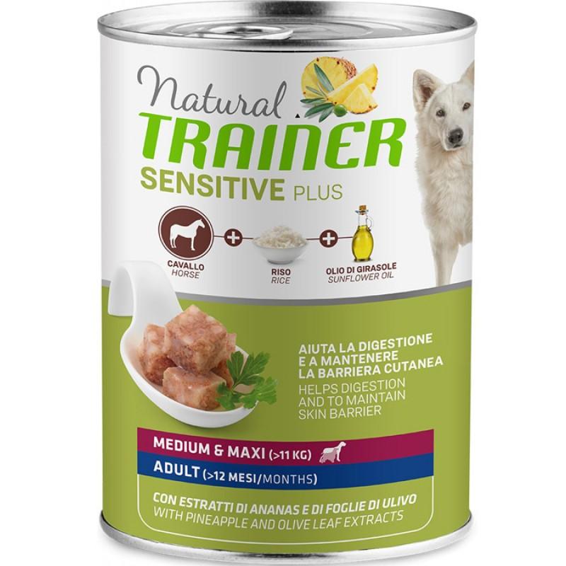 Влажный корм для собак Trainer Sensitive Plus Adult Medium&Maxi с кониной и рисом 0,4 кг