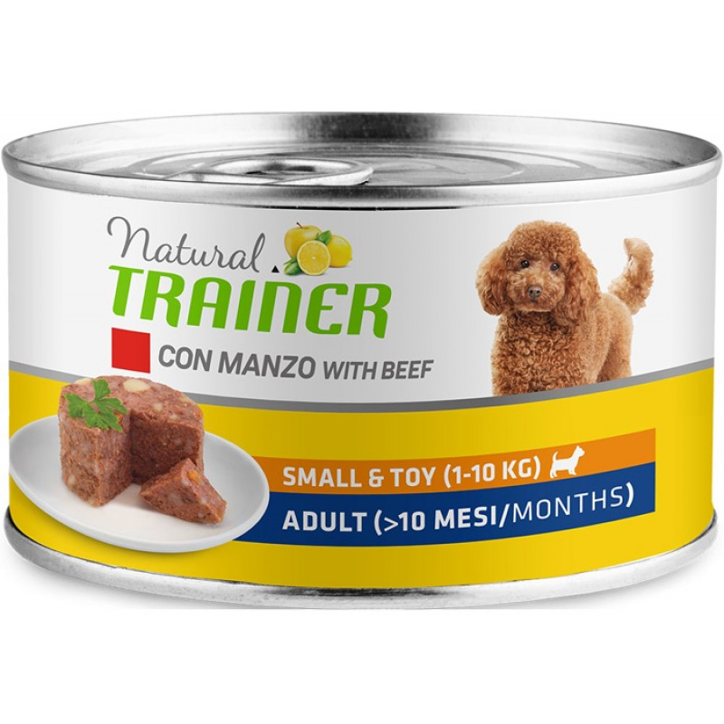 Влажный корм для собак Trainer Natural Small & Toy Adult with Beef 0,15 кг