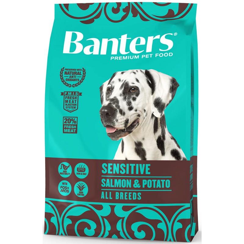 Сухой корм для собак Banters Sensitive лосось с картофелем 3 кг