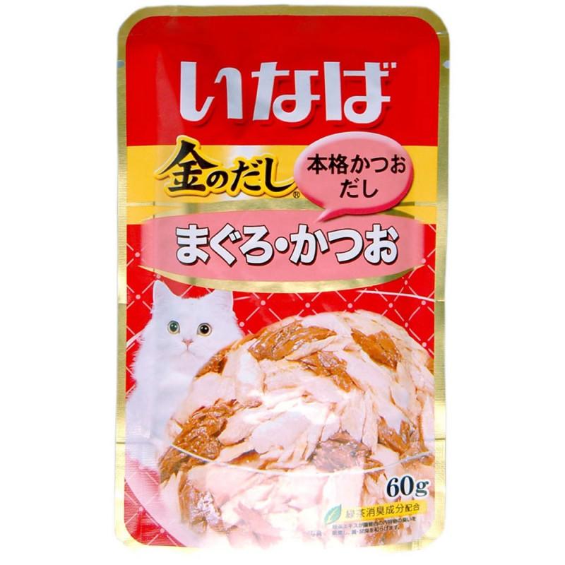 Влажный корм для кошек Premium Pet Inaba Микс из тихоокеанского тунца и японского тунца-бонито 0,06 кг