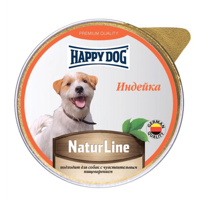 Влажный корм для собак Happy Dog индейка паштет 0,125 кг
