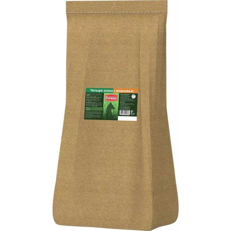 Каша для собак Четвероногий Гурман каша 4 злака с морковью 15 кг