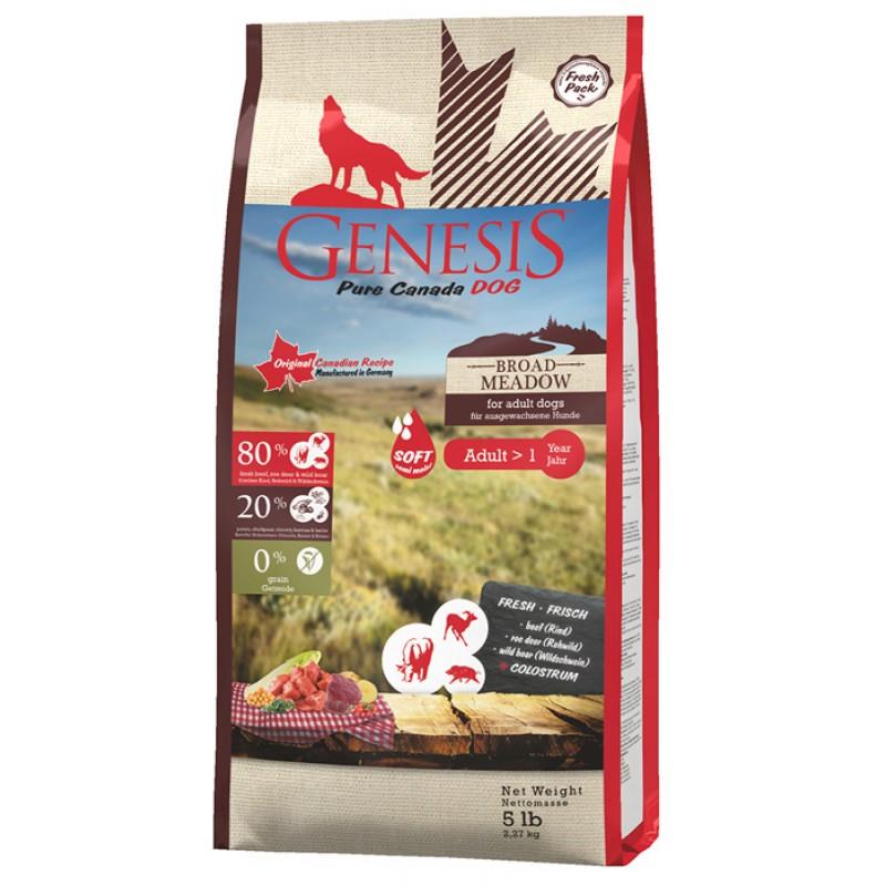 Сухой корм для собак Genesis Pure Canada Broad Meadow  Adult с говядиной, мясом косули и дикого кабана 2,268 кг