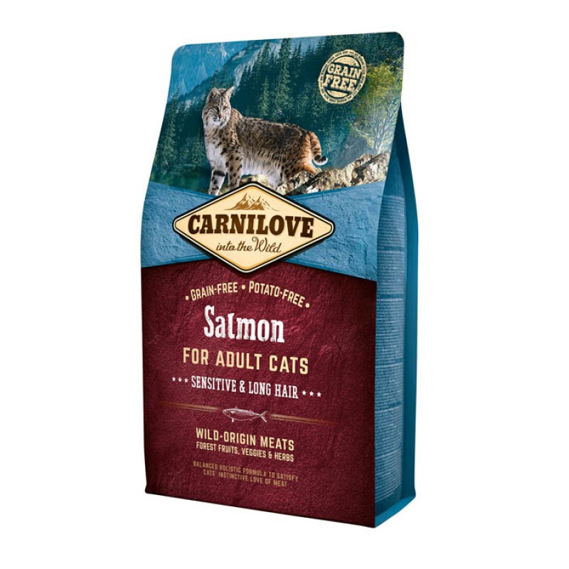 Сухой корм для кошек Carnilove Salmon for Adult с лососем 2 кг