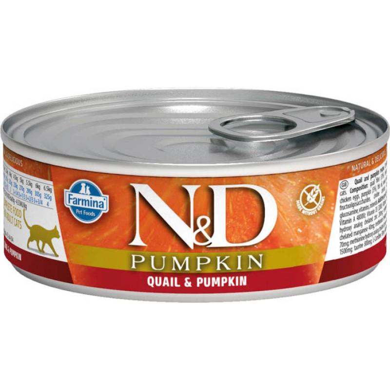 Влажный корм для кошек Farmina N & D Quail & Pumpkin с перепелкой и тыквой 0,08 кг