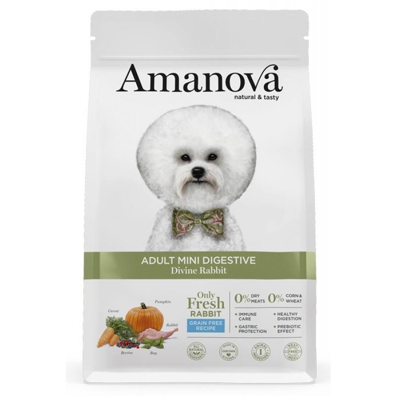 Сухой корм для собак Amanova GF Adult Mini с волшебным кроликом для мелких пород с чувствительным пищеварением 2 кг