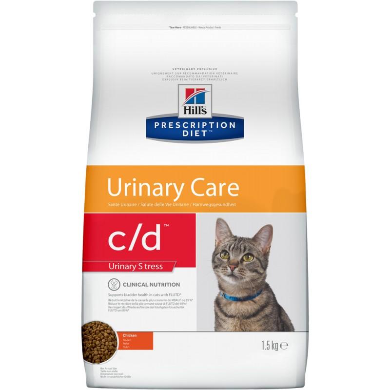 Сухой корм Hills Prescription Diet c/d Urinary Stress Feline диета для кошек 1,5 кг