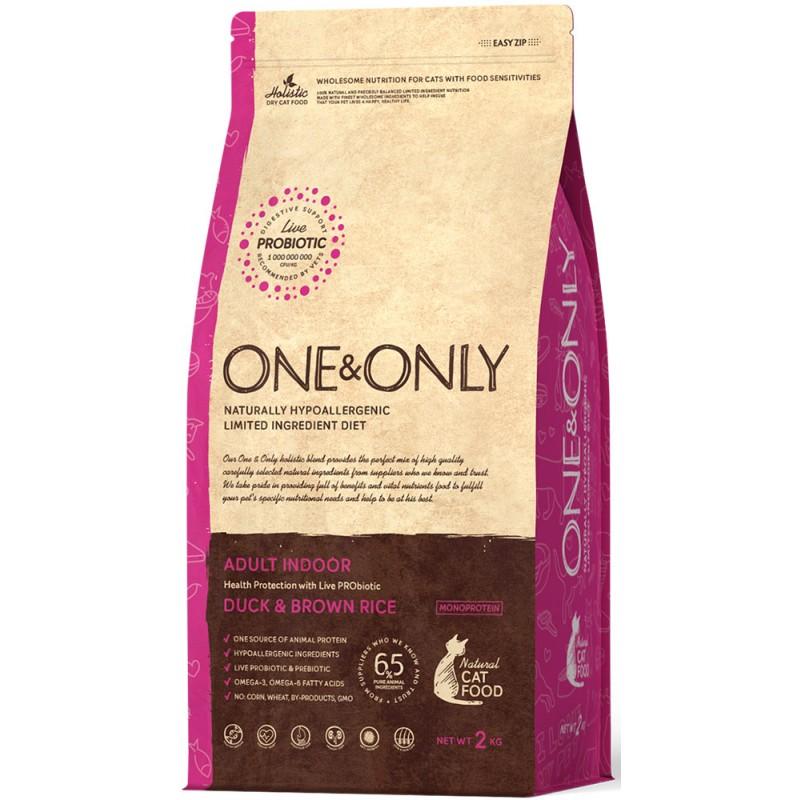 Сухой корм для кошек One&Only Duck & Rice Adult Indoor 2 кг
