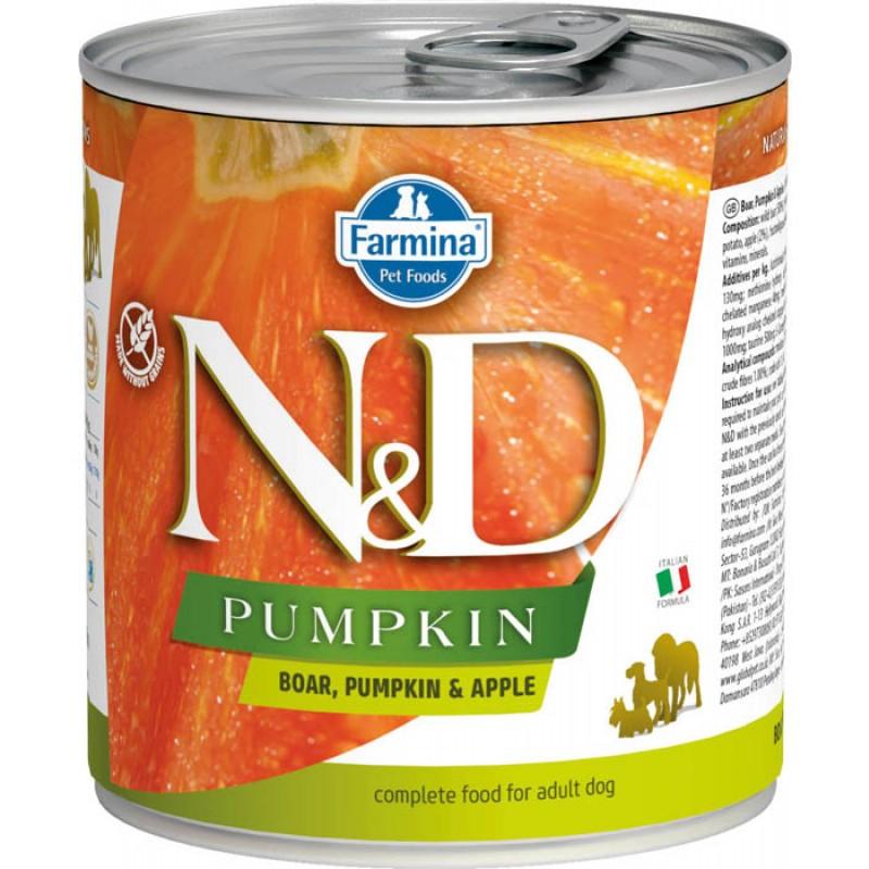 Влажный корм для собак Farmina N & D Boar, Pumpkin & Apple с кабаном, яблоком и тыквой 0,285 кг