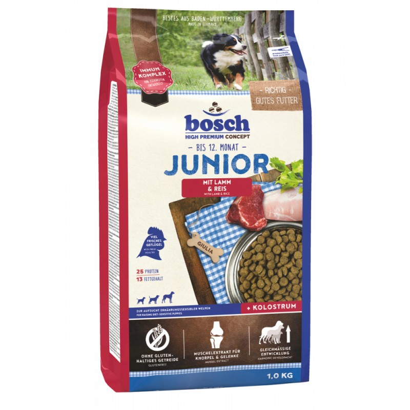 Сухой корм для щенков Bosch Junior с ягнёнком и рисом 1 кг